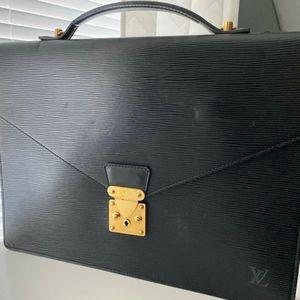 Louis Vuitton Epi Porte Documents Bandouliere Bag
